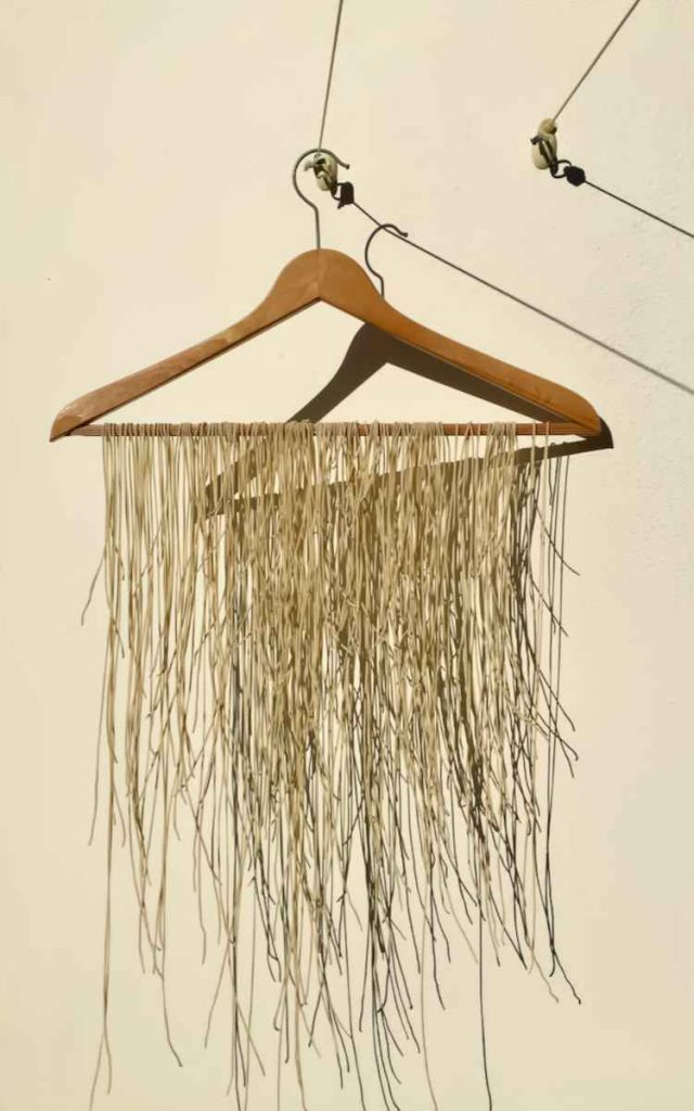 Drying our homemade ramen noodles - Pollensa Private Chefs