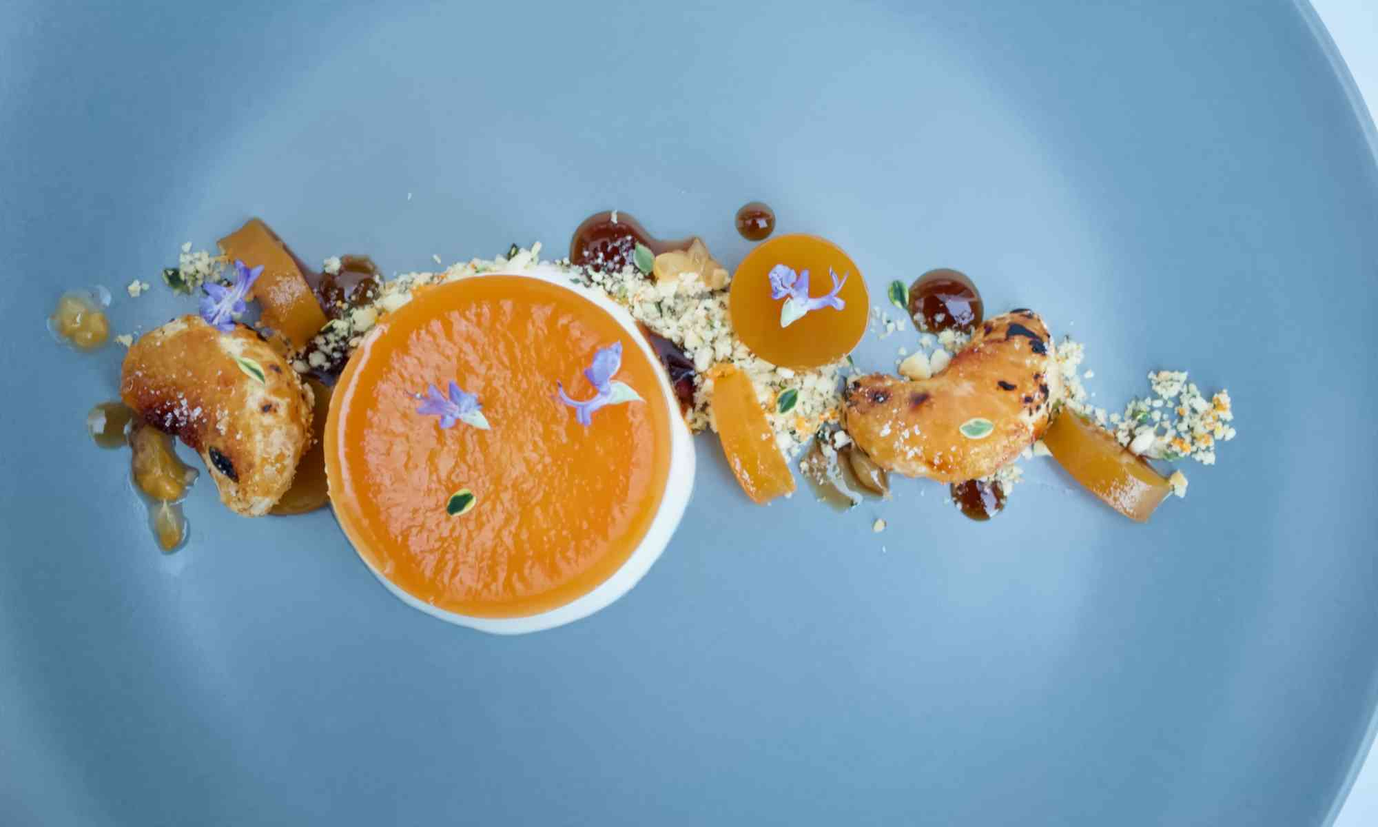 Clementine & Earl Grey tea parfait dessert - Top view - Pollensa Private Chefs