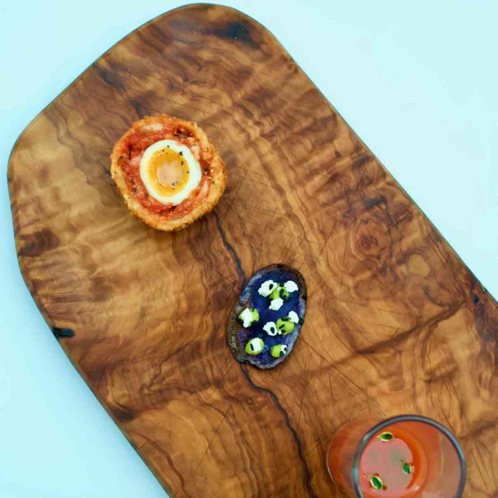 Fine dining canapes - Pollensa Private Chefs
