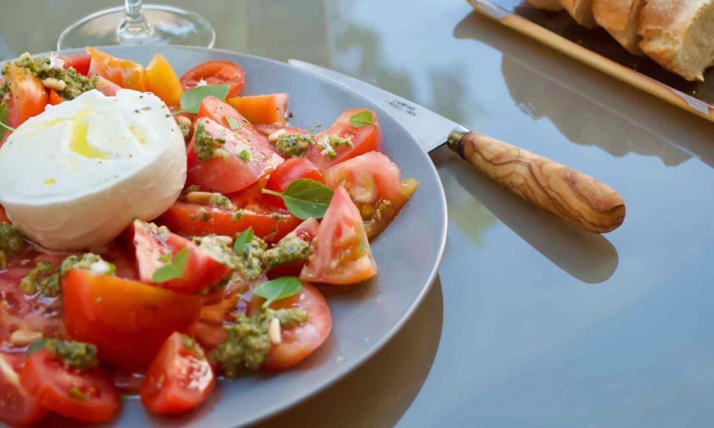 Villa chef service Mallorca - Summer lunch - Tomato and mozzarella salad - Pollensa Private Chefs