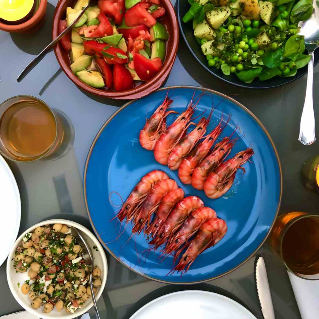 Catered villas Pollensa - Red prawns from Mallorca